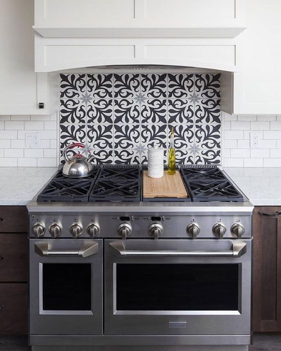 colorful kitchen backsplash