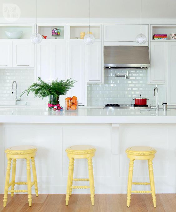 colorful kitchen stools