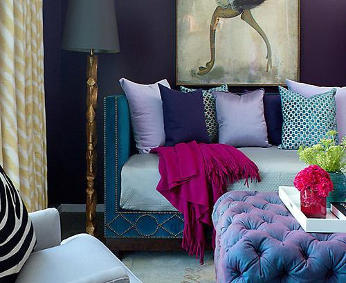 teal and purple jewel tone