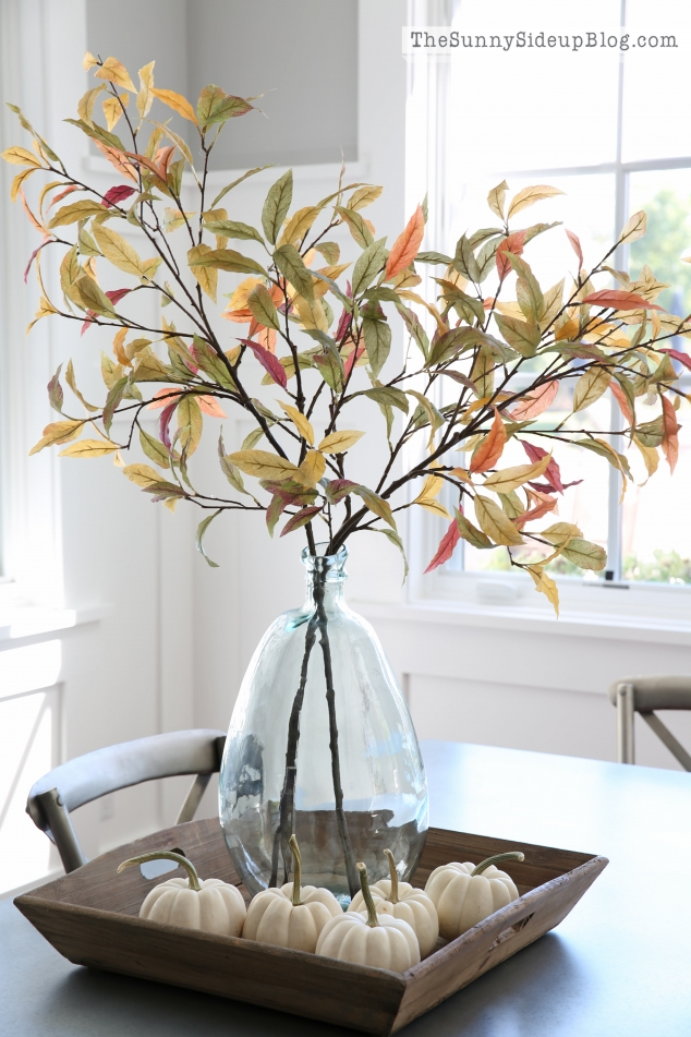 fall vase with branch